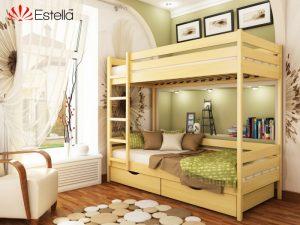 Деревяная кровать Дуэт